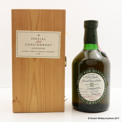 Alfred Lamb Special Reserve 1949 Jamaica Rum 75cl