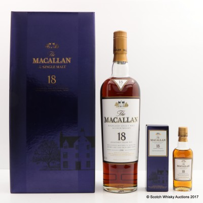 Macallan 18 Year Old 1991 with Matching Mini 5cl