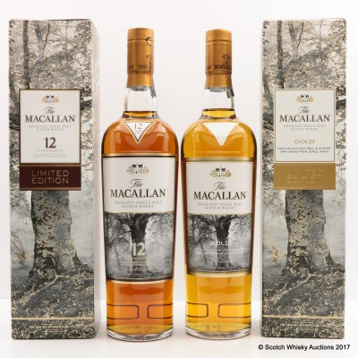 Macallan Gold Limited Edition & Macallan 12 Year Old Limited Edition