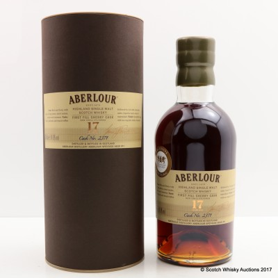 Aberlour 17 Year Old Single Cask for The Whisky Exchange