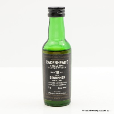 Benrinnes 1971 18 Year Old Cadenhead's Mini 5cl