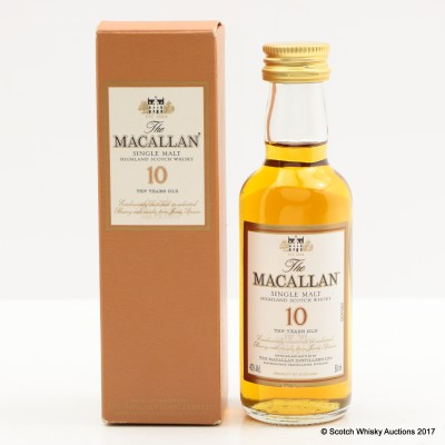 Macallan 10 Year Old Mini 5cl