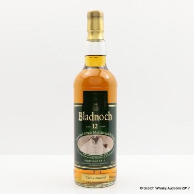 Bladnoch 12 Year Old Black Faced Sheep Label