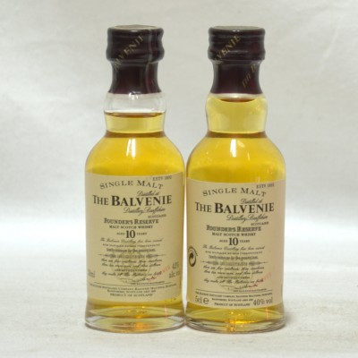 Balvenie Founder's Reserve 10 Year Old Minis 5cl x 2