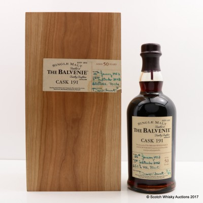 Balvenie 1952 50 Year Old Single Cask #191