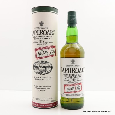 Laphroaig 10 Year Old Cask Strength Batch #3