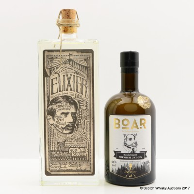 Elixier Gin 50cl & Boar Blackforest Premium Dry Gin Batch 5 50cl