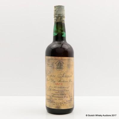 Henriques Estate 1879 Rare Sercial Pale Dry Madeira Wine 1 Pint 9 Fl Oz