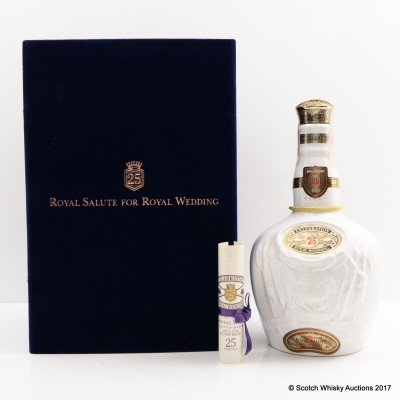 Chivas Royal Salute 25 Year Old Royal Wedding