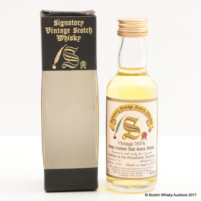Rosebank 1974 17 Year Old Signatory Mini 5cl