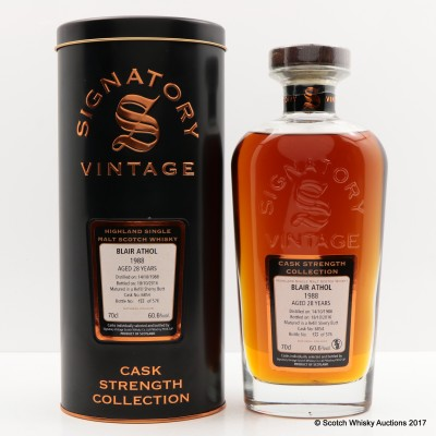 Blair Athol 1988 28 Year Old Signatory
