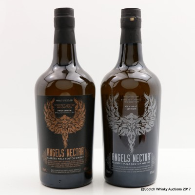 Angels Nectar First Edition & Angels Nectar Rich Peat Edition 2 x 70cl
