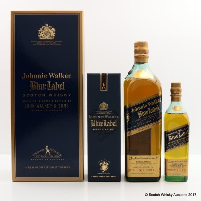 Johnnie Walker Blue Label 75cl & Johnnie Walker Blue Label 20cl