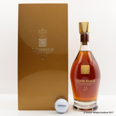 Glenmorangie 25 Year Old Quarter Of A Century & Open Golf Ball
