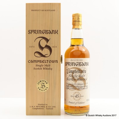 Springbank 45 Year Old Millennium Collection