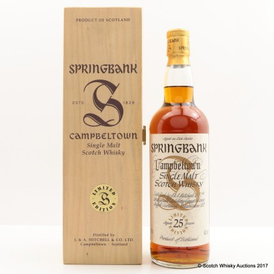 Springbank 25 Year Old Millennium Collection