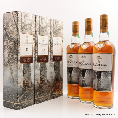 Macallan 12 Year Old Limited Edition Taiwan Exclusive 3 x 70cl