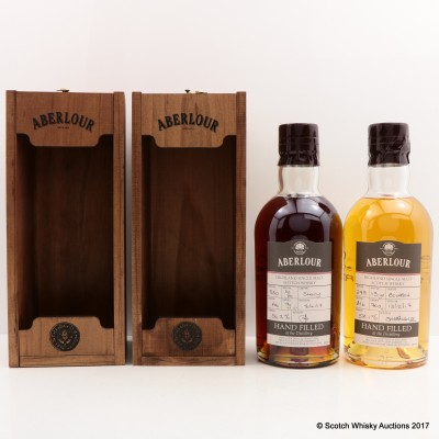 Aberlour 16 Year Old Hand Filled Sherry Cask & Aberlour 13 Year Old Hand Filled Bourbon Cask