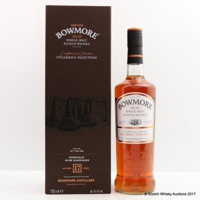 Bowmore 1998 17 Year Old Stillmen's Selection Craftmen's Collection