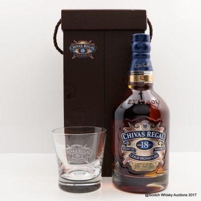 Chivas Regal 18 Year Old with Crystal Glasses Set