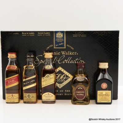 Johnnie Walker Special Miniature Collection 5 x 5cl