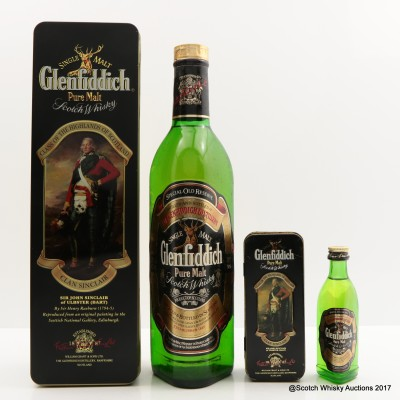 Glenfiddich Clans Of The Highlands Of Scotland Clan Sinclair & Matching Mini 5cl