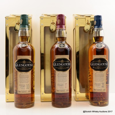 Glengoyne Spirit Safe Collection - 10 Year Old, 17 Year Old & 21 Year Old 3 x 70cl