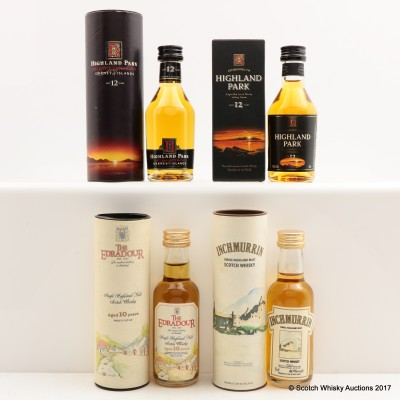 Assorted Miniatures 4 x 5cl Including Highland Park 12 Year Old