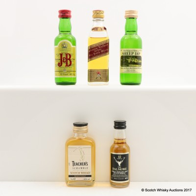 Assorted Miniatures x 5 Including Johnnie Walker Red Label