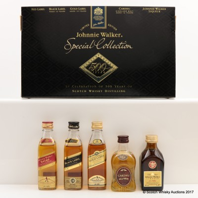Johnnie Walker Special Collection Celebrating 500 Years Of Scotch Whisky Distilling