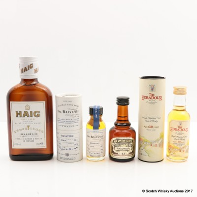 Assorted Minis x 3 & Haig Gold Label 20cl