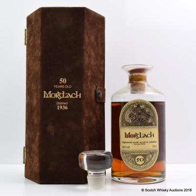 Mortlach 1936 50 Year Old Presentation Boxed G&M 75cl