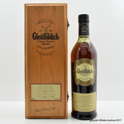 Glenfiddich 1977 31 Year Old Vintage Reserve