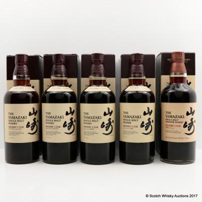 Yamazaki Sherry Cask 2009, 2010, 2012, 2013 & 2016 Releases 4 x 70cl 1 x 75cl