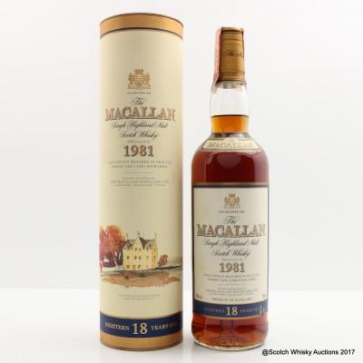 Macallan 18 Year Old 1981
