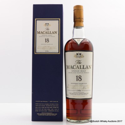 Macallan 18 Year Old 1986