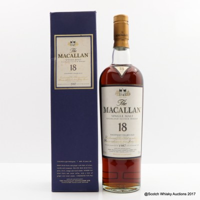 Macallan 18 Year Old 1987