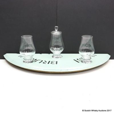 Bruichladdich Plinth with Glencairn Glasses x 3