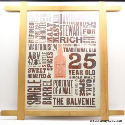 Balvenie 25 Year Old Single Barrel Limited Edition Stave Framed Print