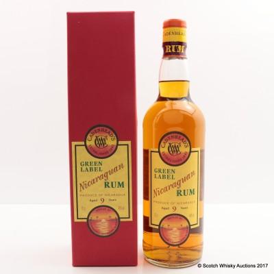 Green Label 9 Year Old Nicaraguan Rum Cadenhead's