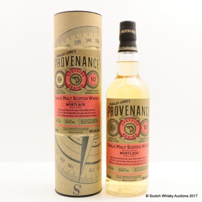 Mortlach 2006 10 Year Old Provenance