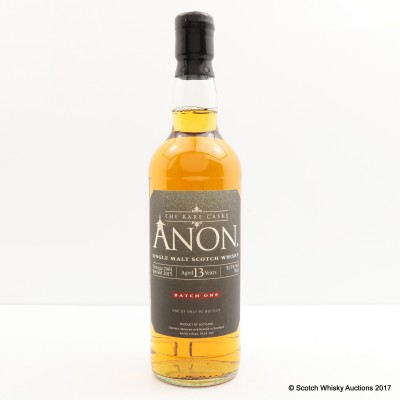 Anon 2001 13 Year Old Batch #1 Rare Cask's