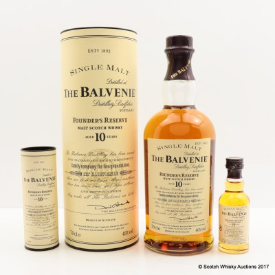 Balvenie 10 Year Old Founder's Reserve with Matching Mini 5cl