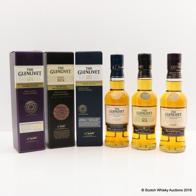 Glenlivet Master Distiller's Reserve, Solera Vatted & Small Batch 3 x 20cl