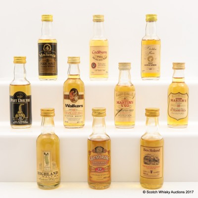 Assorted Minis 10 x 5cl Including Glenordie 12 Year Old 5cl