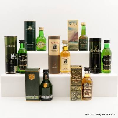 Assorted Minis 7 x 5cl Including Glenfiddich 12 Year Old
