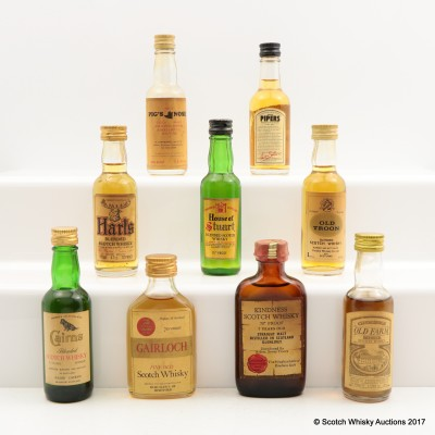 Assorted Minis 9 x 5cl Including House of Stuart 5cl