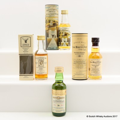 Assorted Minis 4 x 5cl Including Balvenie 10 Year Old Founder's Reserve 5cl