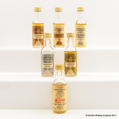 Assorted Minis 6 x 5cl Including Campbeltown Commemorative Mini 5cl