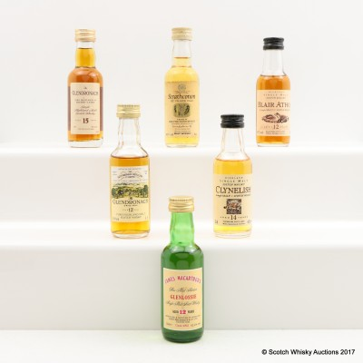 Assorted Minis 6 x 5cl Including Flora & Fauna Blair Athol 12 Year Old 5cl